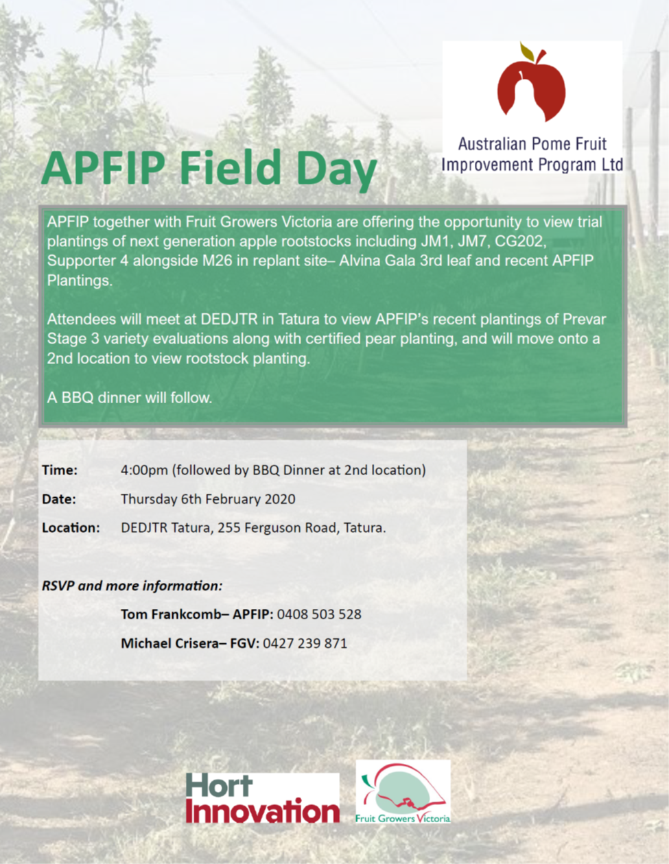 APFIP Field Day- Thursday 6th February 2020
