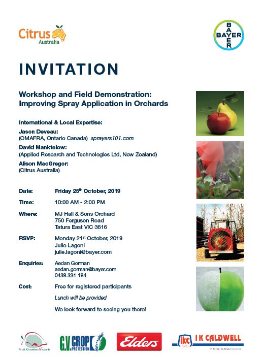 Workshop & Field Demonstation: Improving Spray Application in Orchards