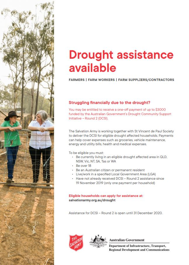 Drought Assiatance Poster