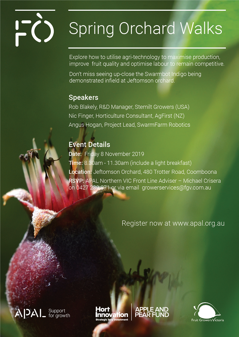 Northern Vic Future Orchard Walk on Friday, 08 November at Jeftomson Orchard, Coomboona