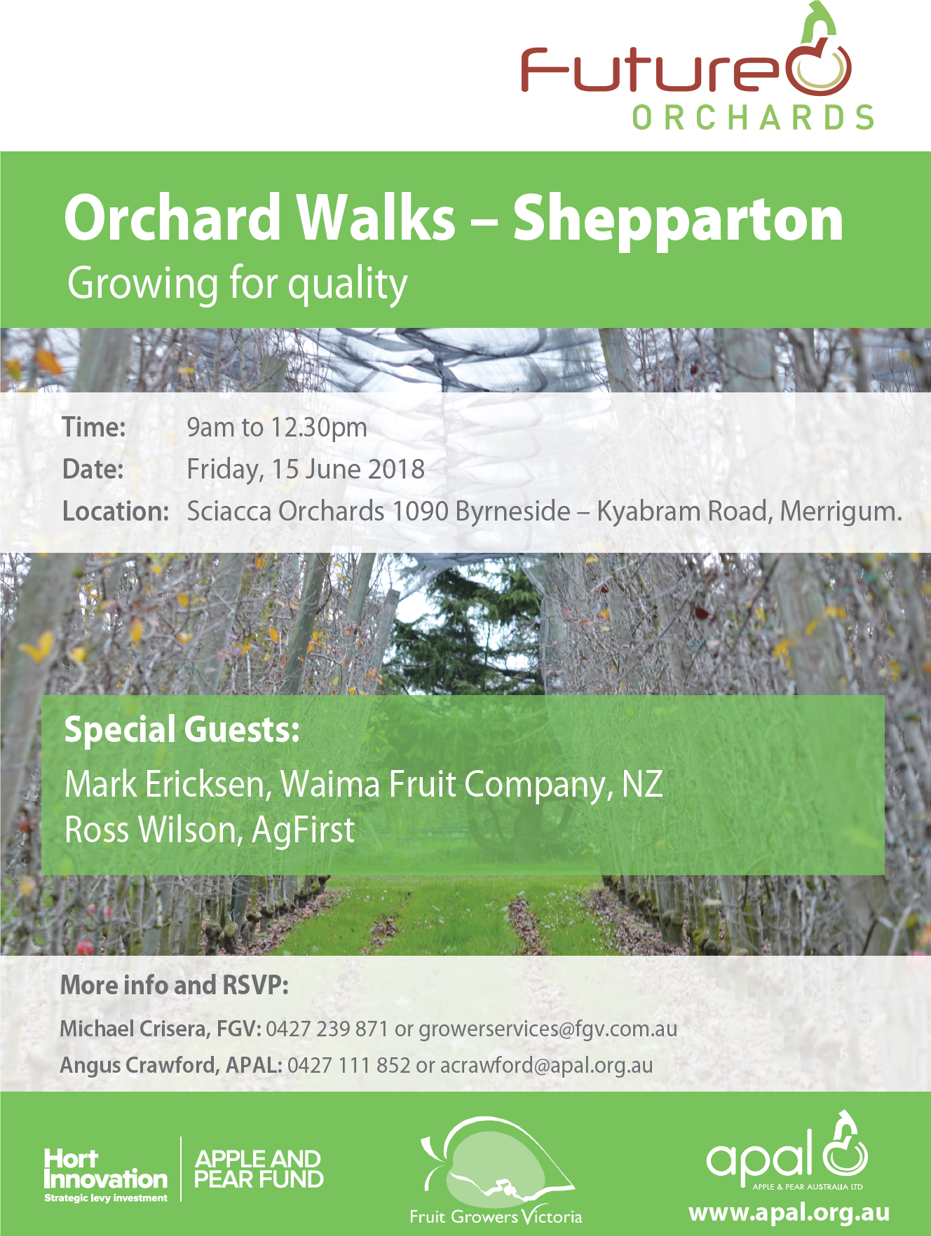 Future Orchards Orchard Walks Shepparton June 2018