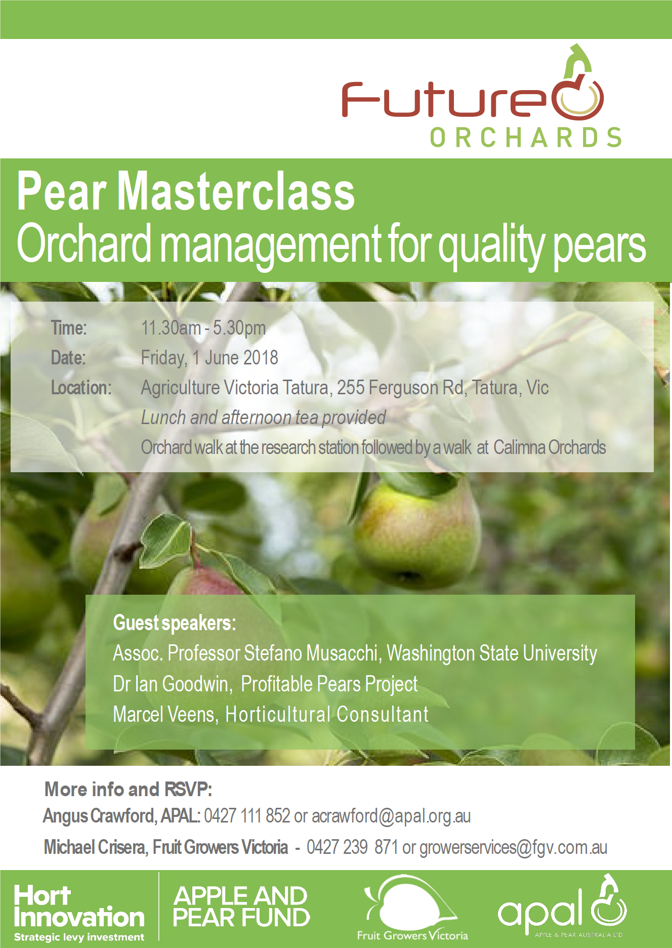 Future Orchards Pear Masterclass