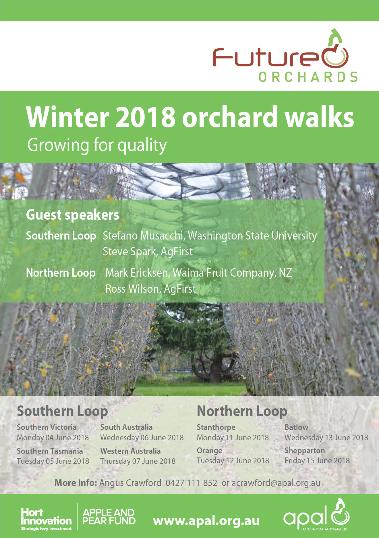Future Orchards walks winter 2018 flyer