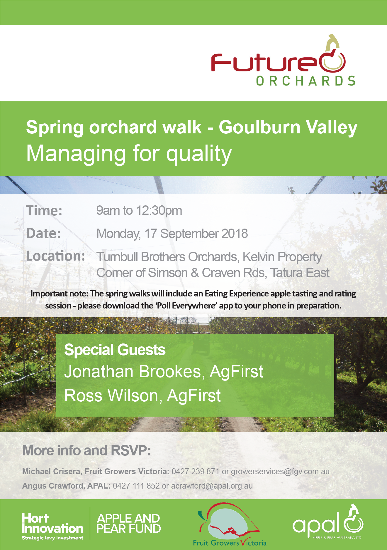 Goulburn Valley Spring Orchard Walk 2018