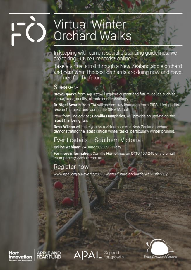 Future Orchards 'Virtual Winter Orchard Walk'- Southern Victoria- 24 June 2020, 9:00am-11:00am